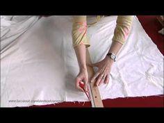 ▶ TRUCO - Cómo convertir una vieja sábana en una enagua - ATAVÍOS - YouTube