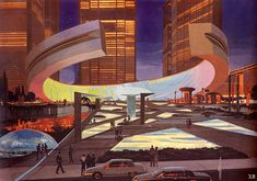 Syd Mead, Tales Of Suspense, Futuristic City, New Fantasy, Found Object Art, Sci Fi Characters, Robot Art, Science Fiction Art, Future City