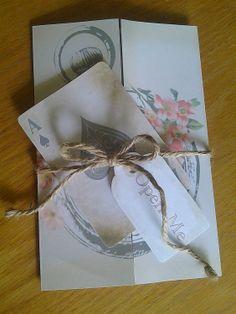 Alice in Wonderland Wedding Invitations with matching RSVP's -set of 10. $150.00, via Etsy.