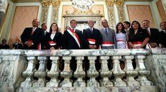 VIERNES 14 DE MARZO DEL 2014 | 22:20 Gabinete en pleno permanece en Palacio de Gobierno Equipo ministerial de René Cornejo sesiona de emergencia con presidente Humala, luego de no lograr voto de confianza