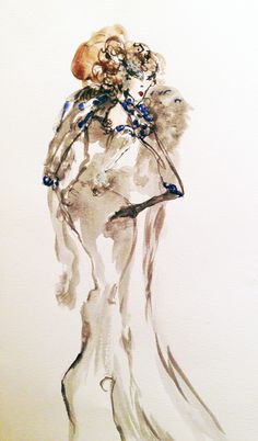 watercolour, ink - 2014 #iamdanielfisher #art #fashionillustration