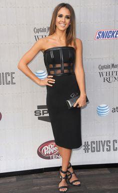 Jessica Alba in David Koma dress