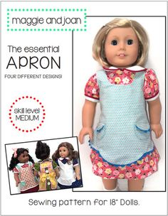 """Essential Apron 18"""" Doll Clothes"""