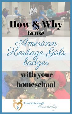 We used to use Cub Scout badges as part of our boys' schoolwork. These days, I discovered ways American Heritage Girl badges do the same for our daughter! American Heritage Girls, American Girl, Native American, Home Learning, Early Learning, Cub Scout Badges, Infant Lesson Plans, How To Start Homeschooling, Crafts For Girls