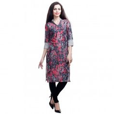 Floral Kurtis Online - Buy Floral Kurti for women @ upto Off from Latest Collection - IndiaRush Ethnic Kurti, Absolutely Gorgeous, Beautiful, Indian Ethnic Wear, Floral Prints, Tunic Tops, Lady, Spring, Cotton