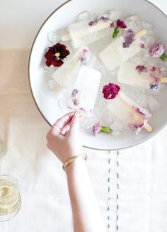 Winesicles | 29 Flower Recipes To Brighten Your Impending Winter
