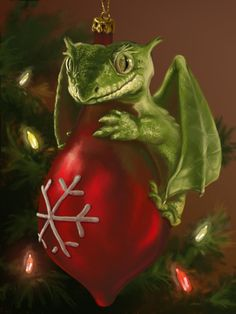 Dragons love tree ornaments