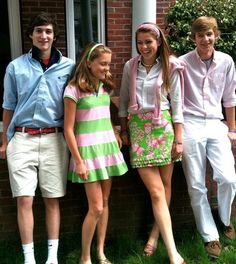 Future fratstars and by the looks of the girls color combination, hopefully future delta zeta's Preppy Family, Preppy Boys, Preppy Outfits, Summer Outfits, Nerd Outfits, Prep Style, My Style, New England Prep, Preppy Southern