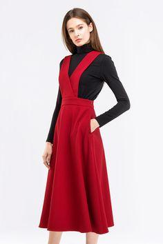 Сарафан миди винного цвета купить в Украине, цена в каталоге интернет-магазина брендовой одежды Musthave