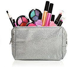 Details about Kids Washable Makeup Set W/ Glitter Cosmetic Bag Children Blush Girls Eyeshadow - Make Up Forever Makeup Kit For Kids, Makeup For Teens, Girls Makeup, Teen Makeup, Make Up Kits, Glitter Lip Gloss, Glitter Lips, Mini Makeup, Makeup Set