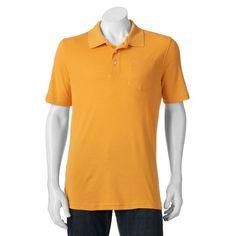 Big & Tall Croft & Barrow® Signature Classic-Fit Pocket Polo, Men's, Size: L Tall, Yellow