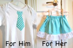 Cute Skirt and Bow Tie Onesie Sewing Tutorial