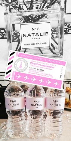 It's all in the details... Parisian Vacation theme printable custom party supplies from Bautista Printables USE CODE PINTEREST716 TO GET %15 OFF