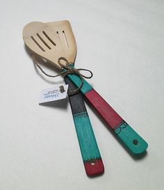 Hand Painted Wooden Spoons by 2Messy on Etsy, $5.50