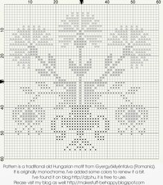 My Happy Memories: Traditional Gyergyói motif Free Cross Stitch Charts, Cross Stitch Freebies, Cross Stitch Love, Cross Stitch Borders, Cross Stitch Designs, Cross Stitching, Cross Stitch Embroidery, Cross Stitch Patterns, Knitted Flowers