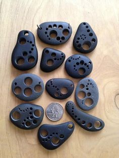 EACH INDIVIDUAL PENDANT IS......$20.00 Collected on the south shore of Lake Superior, these common basalt stones become uncommon and