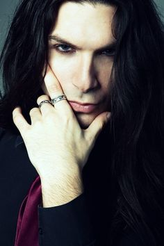 Vampire guy with nice silver rings. Vampires can't touch silver but whatever.