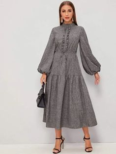 Lovely Dresses, Modest Dresses, Stylish Dresses, Simple Dresses, Vintage Dresses, Casual Dresses, Fashion Dresses, Hijab Fashion Summer, Muslim Fashion