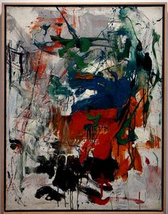 Joan Mitchell Artist Painting Untitled 1960 Oil On Canvas 30 x 24 Inches $1.2M Lennon Weinberg Gallery New York