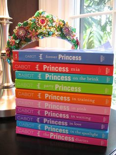Princess Diaries (book series) by Meg Cabot. I own all of these books. Probably one of my favorite young adult series.