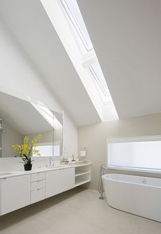 Toronto prefab bathroom with low-flow fixtures by Hansgrohe reduce water consumption.