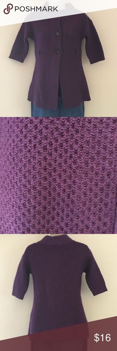 Loft Purple Sweater Cozy purple sweater for fall days! Gently used. Pair with a black tank, jeans or leggings. Bundle and save! LOFT Sweaters