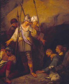 John Hamilton Mortimer 'III. The Hero Rescues the Prisoners', exhibited 1775