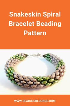 Learn how to make the beautiful spiral design in this SuperDuo bracelet pattern. The Tubular Peyote Stitch beaded rope tutorial has step-by-step instructions in English with pictures so creating this fun beadwork is easy even for beginners. Beaded Bracelet Patterns, Jewelry Patterns, Beading Patterns, Beaded Jewelry, Beaded Necklace, Loom Beading, Crystal Jewelry, Seed Bead Bracelets, Bead Jewelry