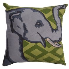 National Geographic Home Cotton Pillow | Elephant #nationalgeographicanimals