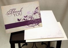 10 Thank You Blank Notecards 4.25x6 A6 Greeting by karaskoncepts, $4.95