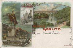 Wiadukt kolejowy (Görlitzer Neisse-Viadukt), Zgorzelec - 1899 rok, stare zdjęcia