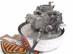 Harley Davidson OEM CARBURETOR 27038-90 0524 from 1989 FXSTC Softail Custom #HarleyDavidson