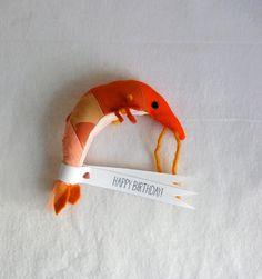 Patchwork Birthday Shrimp von sian auf Etsy, $27.00