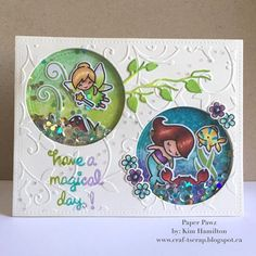 I decided to channel my inner 7 year-old with this Tinkerbell meets Ariel Disney inspired card . Fun with @lawnfawn #fairyfriends #mermaidforyou