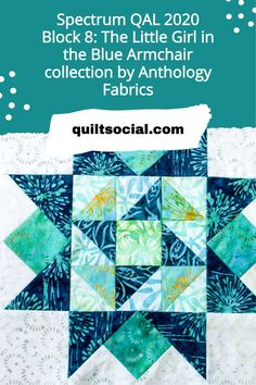 Instructions to make Block 8 of our Spectrum QAL 2020 featuring the instructions based on Claire's choice of fabrics from Anthology: Little Girl in the Blue Armchair ✨💙 #TheSewGoesOn #letsquiltalong #patchwork #anthologyfabrics #quiltingwithclaire Quilting Projects, Quilting Designs, Blue Armchair, Craft Tutorials, Quilt Blocks, Spectrum, Claire, Quilt Patterns, Sewing Crafts
