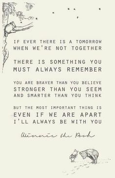 I'LL ALWAYS BE WITH YOU - Winnie the Pooh
