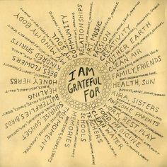 I am in love with this mandala: the most awsome thoughts in one drawing. And you, what are you grateful about?
