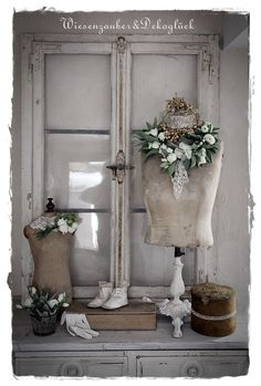 Chic Shabby and French - Tiina Bigley - onlineseries. Dress Form Mannequin, Vintage Mannequin, Shabby Chic Mannequin, French Decor, French Country Decorating, Vintage Shabby Chic, Shabby Chic Homes, Craft Booth Displays, Chabby Chic