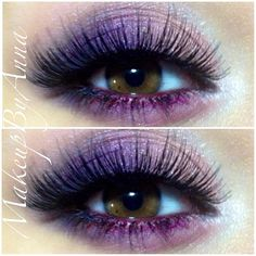 Photo by #makeupbyanna Beautiful Purple shadow look with fluttery false lashes