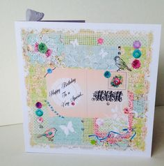 Birthday Card,Mum,Printed Patchwork Design,Can Be Personalised,Handmade  £2.00