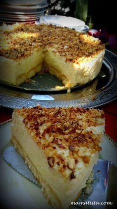 τούρτα λεμόνι Greek Sweets, Greek Desserts, Party Desserts, Summer Desserts, Lemon Recipes, Sweets Recipes, Greek Recipes, Cooking Recipes, Food Network Recipes