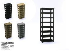 -  Vanadium Kitchen - Shelf Cabinet  Found in TSR Category 'Sims 4 End Tables'