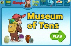 This game helps students practice partners of 10 using 5-group formations in a museum context.