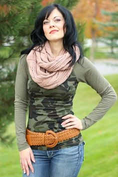 Army Cotton Jersey Top