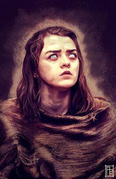 Maisie Williams - Game of Thrones No one/ Arya Stark Tatuagem Game Of Thrones, Dessin Game Of Thrones, Game Of Thrones Artwork, Game Of Thrones Arya, Valar Dohaeris, Valar Morghulis, Fanart, Arya Stark Art, Game Of Trone