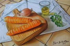 asta a 1 euro dipinto a olio su tela 20X30 stupendo tagliare con carote