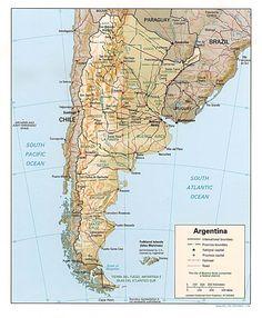 Physical map of argentina maps pinterest argentina sea level similar ideas gumiabroncs Gallery