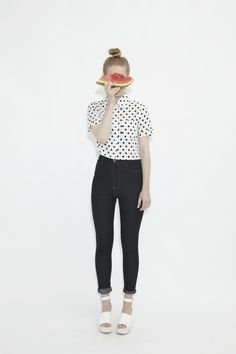 Polka Dot Crop Shirt http://www.thewhitepepper.com/collections/new-in/products/polka-dot-crop-shirt