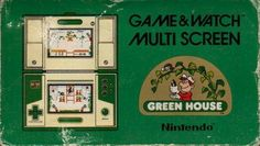 Box art for Game & Watch version of Green House, starring a prototype of Stanley the Bugman from Donkey Kong 3