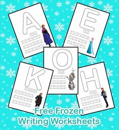 I Make I Share: Free Frozen Writing Worksheets